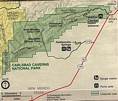 texas caverns map location undeground treasures