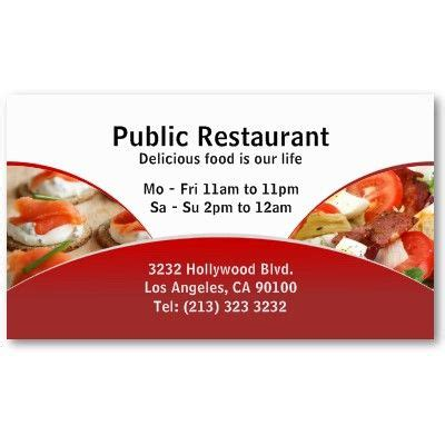Catering Card Template by Business Card Design For Restaurants And Catering Services