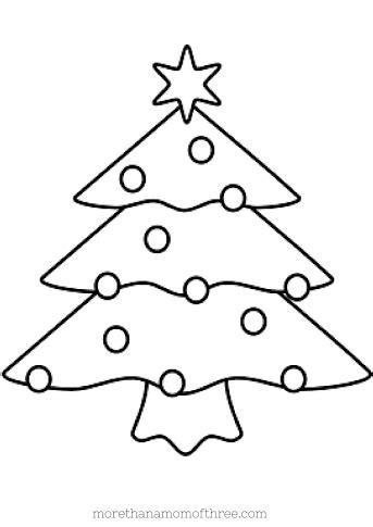 printable christmas tree for kids free coloring pages printables