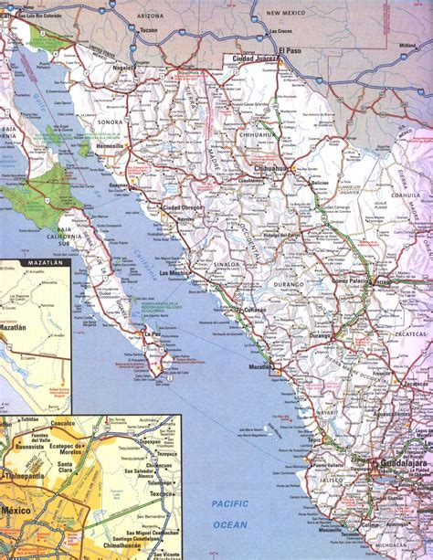 map of western mexico map of western mexico world maps