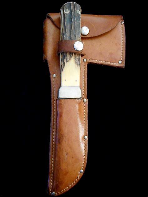 kabar hatchet antique kabar stag exchange blade hatchet knife