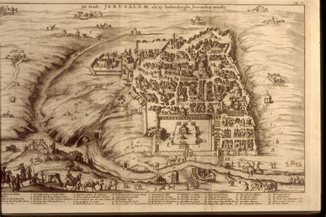 ancient map of jerusalem middle east nomad out of time