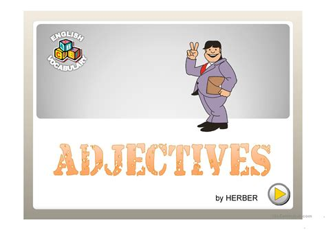 adjectives ppt worksheet free esl projectable worksheets