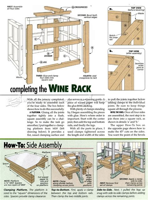 Woodworking Wine Rack Plans by Wine Rack Plan Woodarchivist