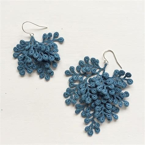 crochet jewelry organic micro crochet jewelry artist fujitamiho