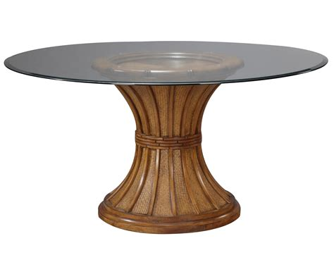Wood Pedestal Table Base by Oak Wooden Combine With Gray Solid Polished