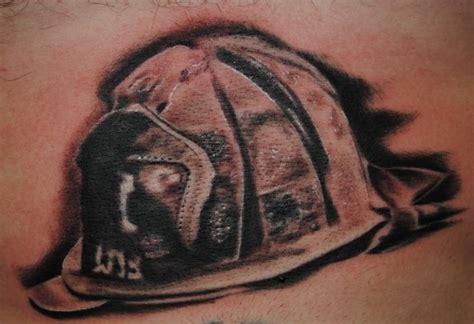 fire helmet by matt allsman tattoonow