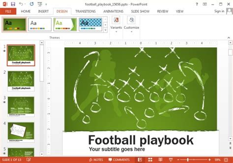 Animated Football Powerpoint Template Football Powerpoint Slides