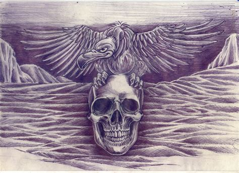 buzzard tattoo designs vulture skull