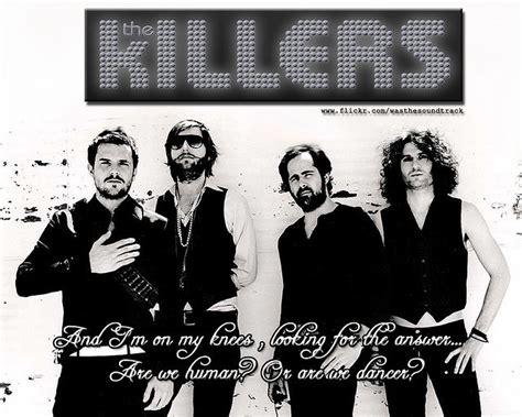 the killers fan club human lyric wallpaper the killers fan art 14572826