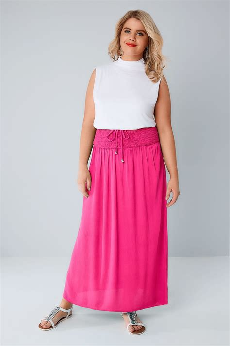 9 Gorgeous Maxi Skirts by Pink Maxi Skirt With Ruched Waistline Plus Size 16 To 36