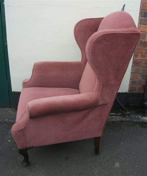 wingback armchair upholstered wingback armchair antiques atlas