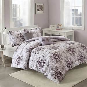 soft comforter sets cozy soft 174 cassy comforter set in purple grey bed bath