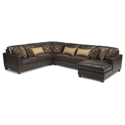 port royal leather sectional flexsteel 1373 sect port royal leather sectional discount