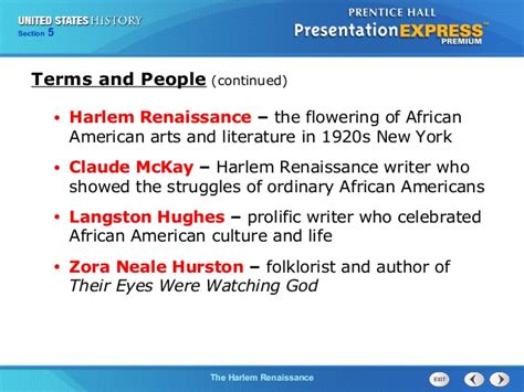 themes in literature of the harlem renaissance united states history ch 11 section 5 notes