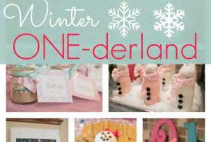 Sweet Winter Wonderland Decorations - first birthday archives pretty my party