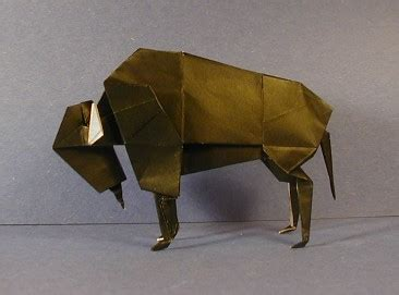 Origami Bison - bison origami sculptures the unofficial montroll