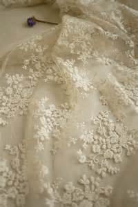 Bridal lace fabric retro embroidered lace chic wedding dress lace
