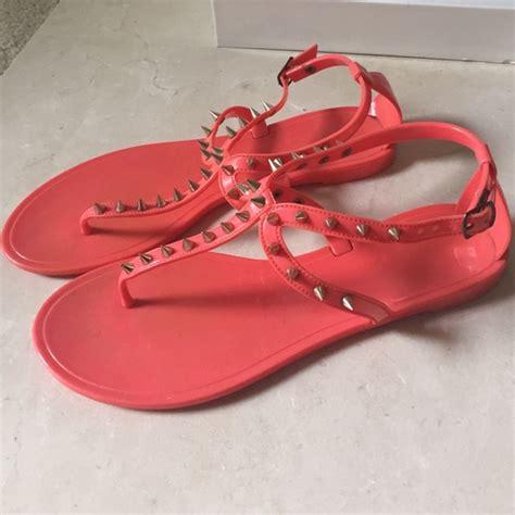steve madden jelly sandals 85 steve madden shoes steve madden orange jelly