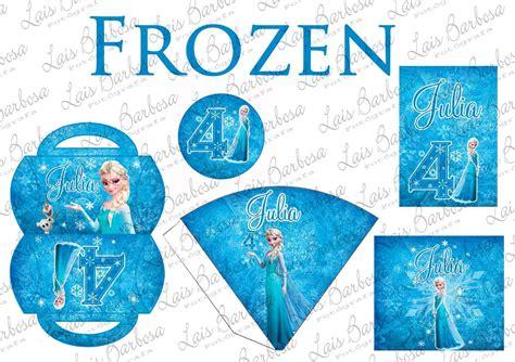 arte digital kit festa personalizada frozen r 25 00 em