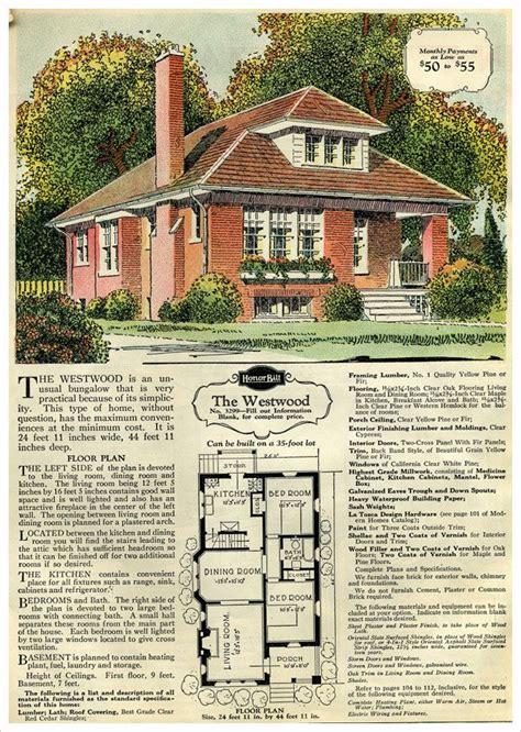 brick bungalow house plans 1929 sears brick veneer the westwood craftsman style