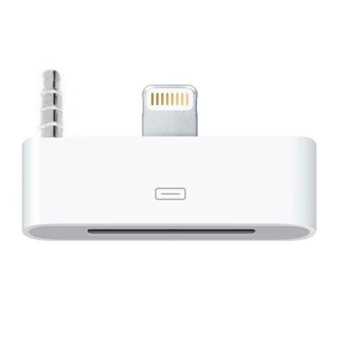 Apple Lightning To 30 Pin Adapter Original Diskon lightning to 30 pin audio adapter iphone 5s se 5c white