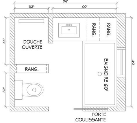 plan salle de bain 26 17 meilleures id 233 es 224 propos de salles de bains minuscules