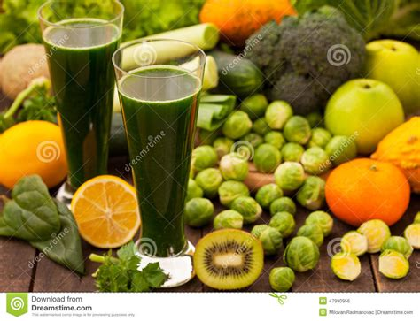 Vegetable Smoothie Detox Diet by Green Healthy Detox Smoothie Stock Photo Image 47990956