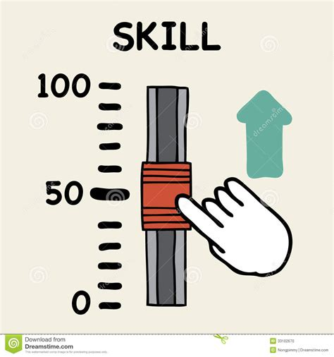 Skill With skill scale stock vector illustration of change point 33102670