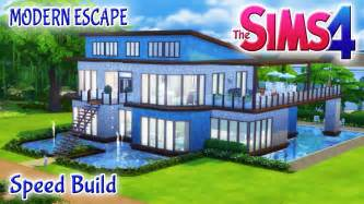 Sims 4 house build modern escape family home with pool amp basement