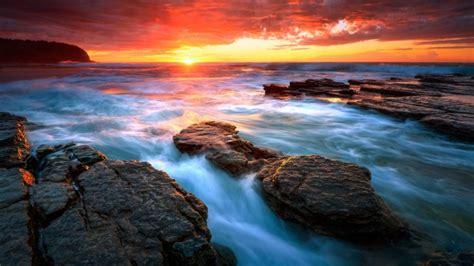 imagenes de paisajes con agua agua playa rocas mar fondos de pantalla hd fondos de