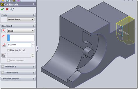 solidworks tutorial cswa cswa advanced part modeling question 1 step by step