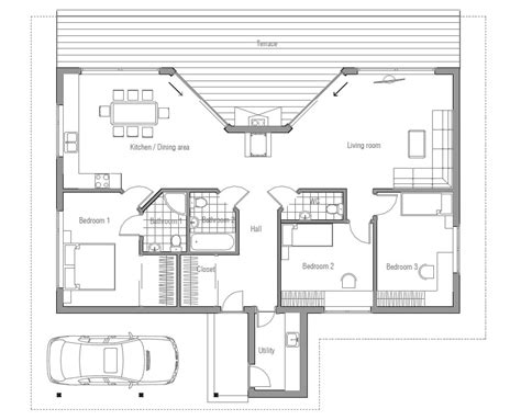 Home Designs Plans by Affordable Home Plans Affordable Modern House Plan Ch61