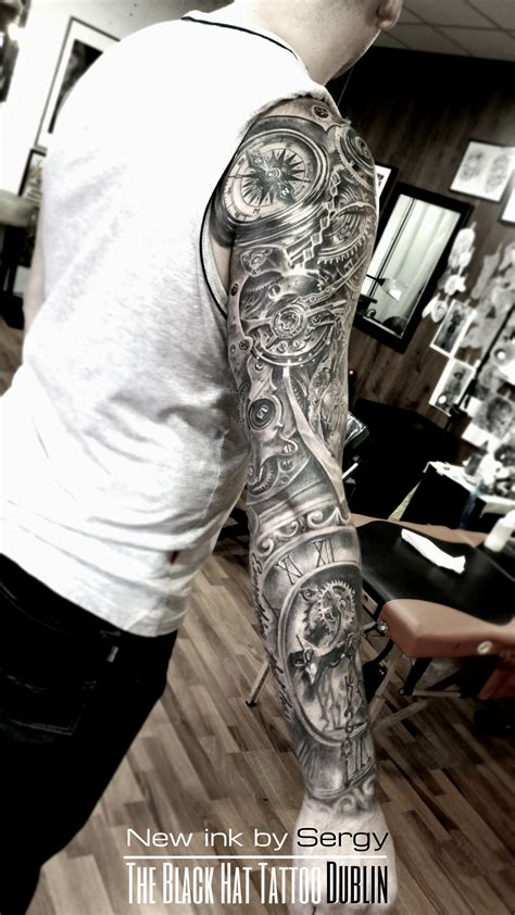 realistic sleeve tattoo blackhatsergy master bio mechanical sleeve