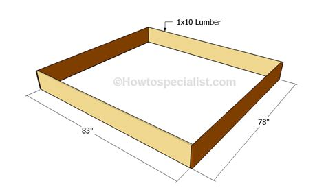 King Size Bed Frame Building Plans Furnitureplans Bed Frame Construction