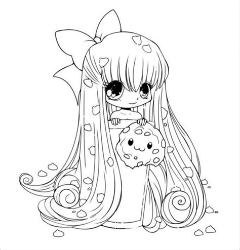 coloring page exles printable chibi templates colouring pages