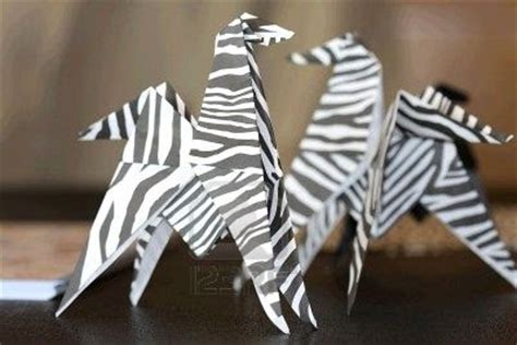 Origami Zebra - origami maniacs animals