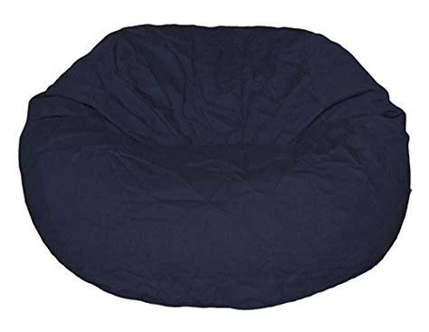 lasting bean bag filler ahh products navy organic cotton large bean bag chair