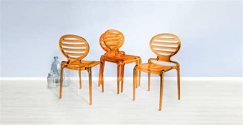 sedie arancioni dalani sedie arancioni colore comfort ed estrosa eleganza