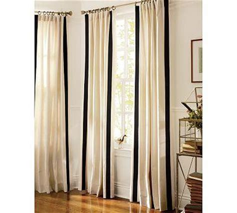 Ellysa Ribbon Front Top Navy stamford teal printed cotton 120 inch curtain panel