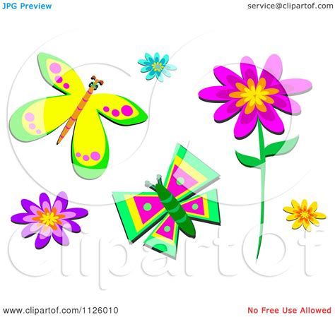 Wallpaper Flowerbutterfly Code No001 Of Flowers And Butterflies Royalty Free Vector