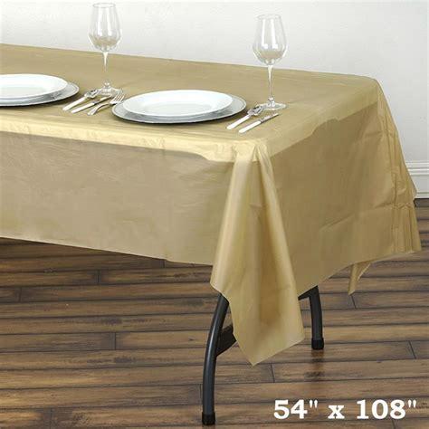 6 pcs rectangle 54x108 quot disposable plastic table covers
