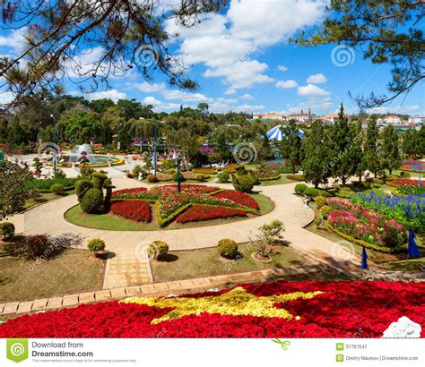 Flower Garden City Dalat Flower Gardens Stock Image Image 37767541