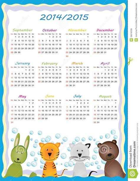Calendario De La Escuela Calendario 2014 2015 De La Escuela Im 225 Genes De Archivo