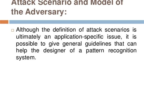 definition of pattern recognition system security evaluation of pattern classifiers under attack ppt