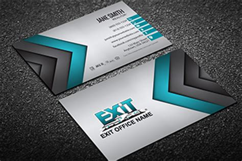free exit realty real estate business cards template exit realty business card templates free shipping