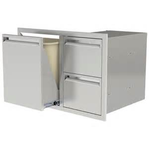 Rollout Drawers by Pcm 30 Quot Combo W Two Drawers Trash Propane Rollout 350