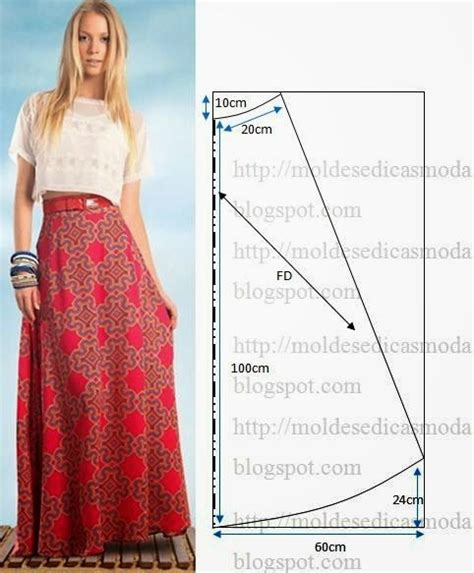 pattern for a line maxi skirt fashion templates for measure get easy to cut and do