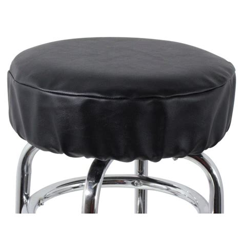 Vinyl Bar Stool Covers by 14 Quot Black Vinyl Bar Stool Seat Cover