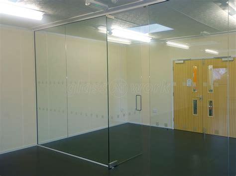 frameless glass wall glass partitioning at petroc college barnstaple devon